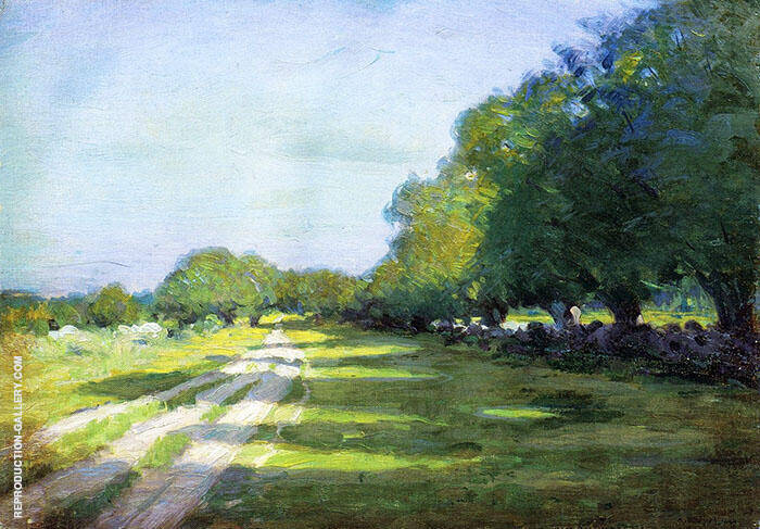 Sun Dappled Path 1895 Painting By Arthur Wesley Dow - Reproduction Gallery