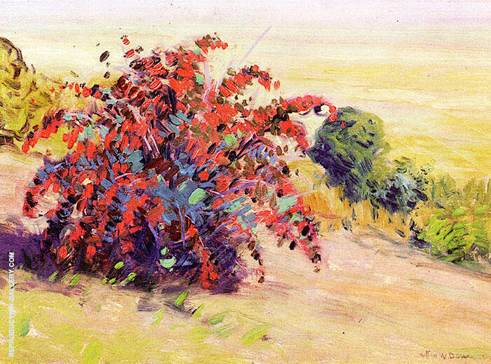 The Barberry Bush Painting By Arthur Wesley Dow - Reproduction Gallery