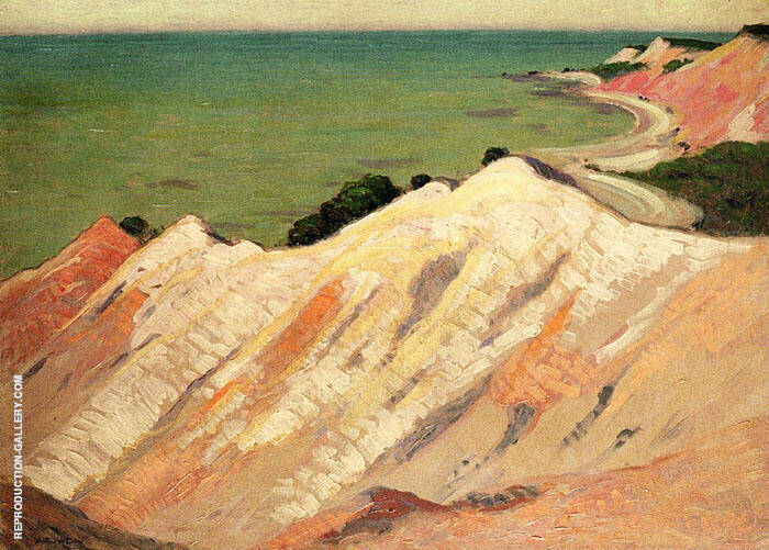 The Clay Cliff Gay Head Massachusetts Painting By Arthur Wesley Dow