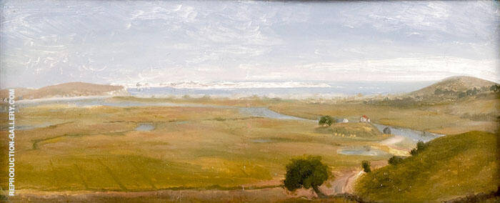 View of Crane Beach Ipswich from Crane Castle Painting By ...