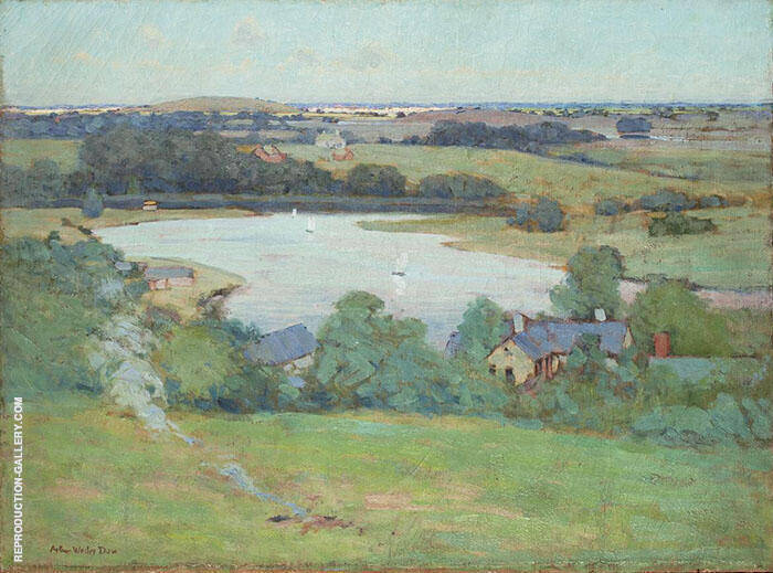 View of The Marshes Ipswich c1910 Painting By Arthur Wesley Dow