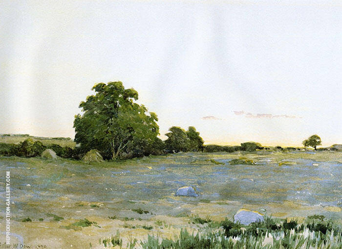 Water Meadows at Sunset 1890 Painting By Arthur Wesley Dow