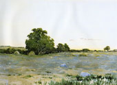 Water Meadows at Sunset 1890 By Arthur Wesley Dow