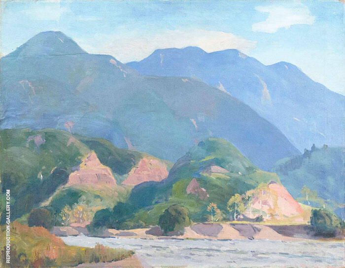 Western Landscape Painting By Arthur Wesley Dow - Reproduction Gallery