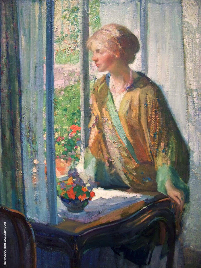 At The Window By Richard Emil Miller