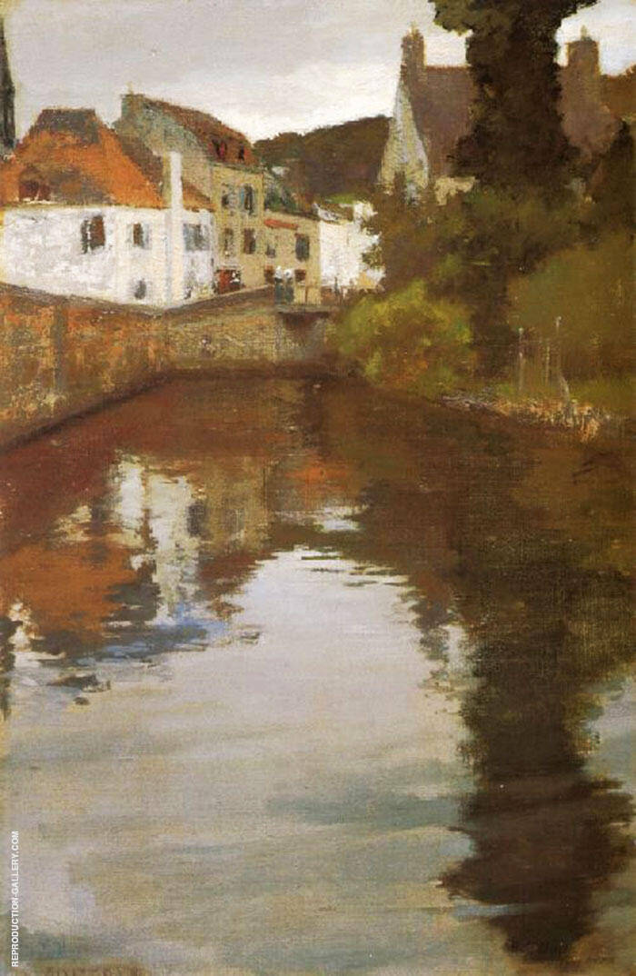 Canal Scene Pont Aven By Richard Emil Miller