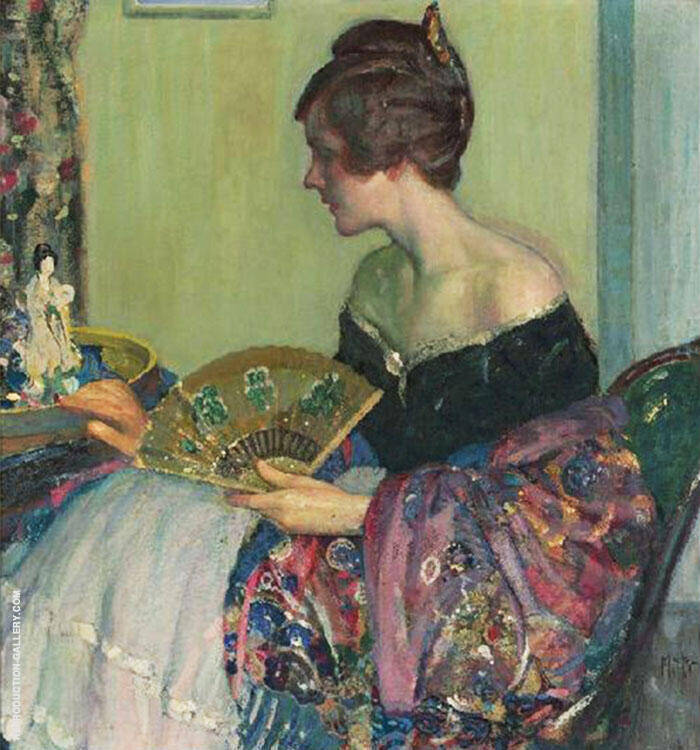 Chinese Statuette By Richard Emil Miller