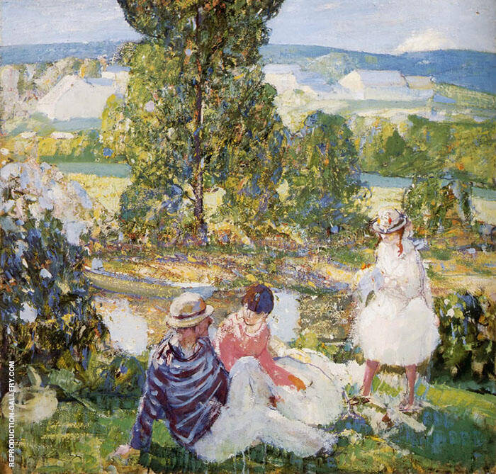Family Picnic Brittany By Richard Emil Miller