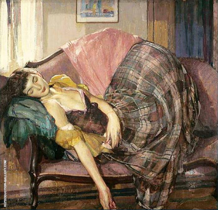Girl Sleeping By Richard Emil Miller