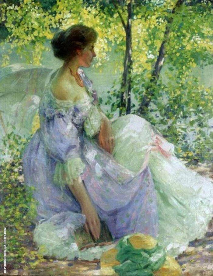 In The Garden By Richard Emil Miller