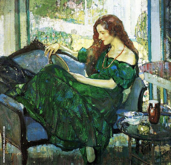 Miss V in Green By Richard Emil Miller