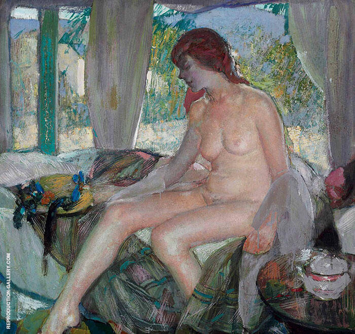 Nude in Interior By Richard Emil Miller