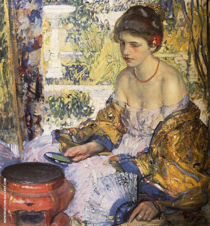 Princess in The Land of Sunshine Painting By Richard Emil Miller