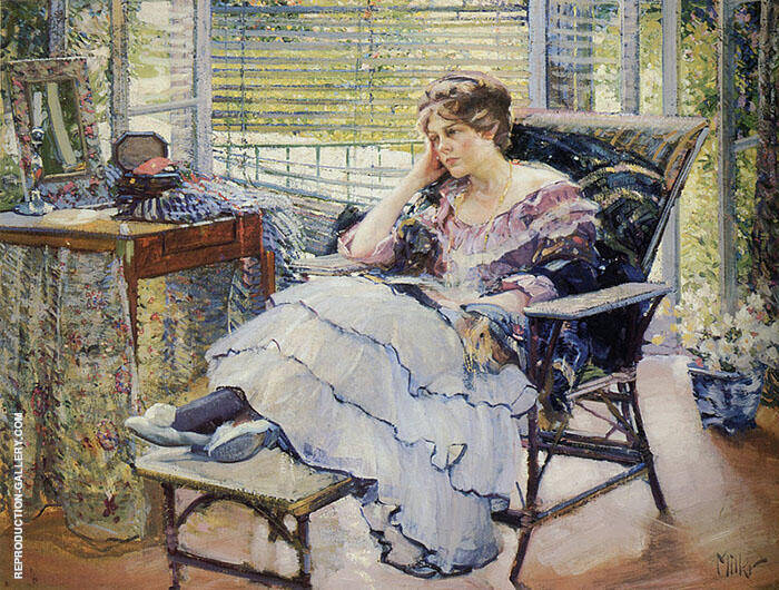 Reverie Painting By Richard Emil Miller - Reproduction Gallery
