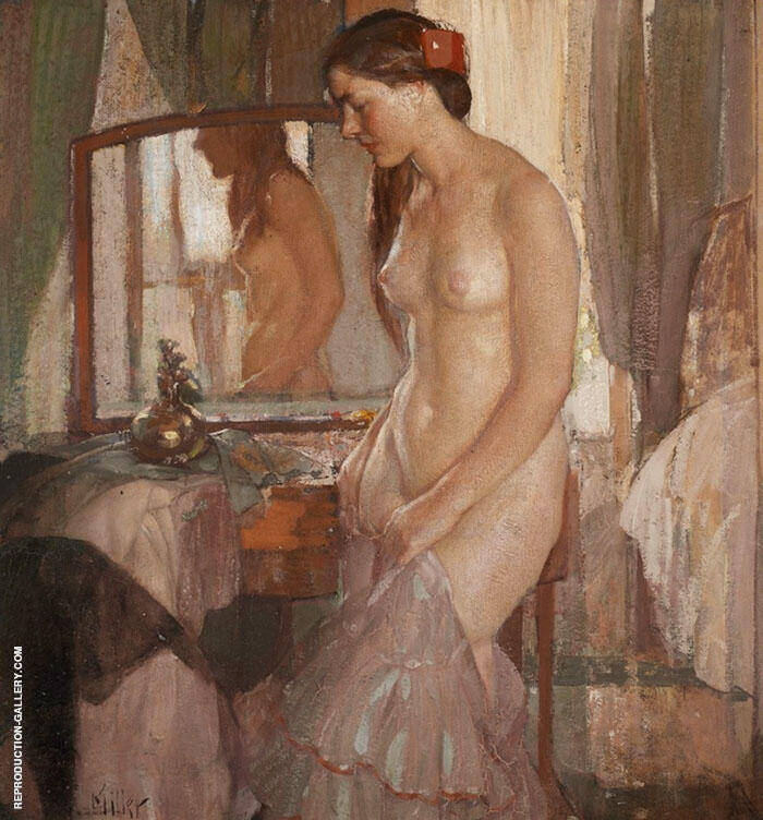 Standing Nude Painting By Richard Emil Miller - Reproduction Gallery