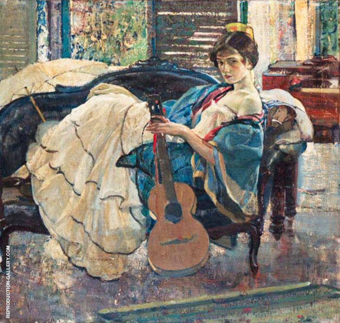 String Artist Painting By Richard Emil Miller - Reproduction Gallery