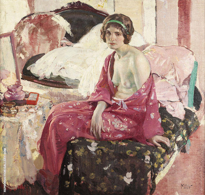 The Boudoir Painting By Richard Emil Miller - Reproduction Gallery