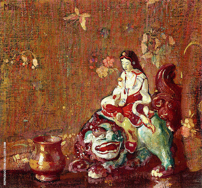 The Chinese Porcelain Figure Painting By Richard Emil Miller