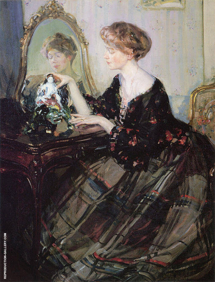 The Chinese Statuette Painting By Richard Emil Miller