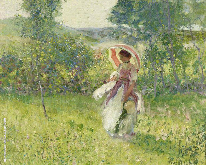 The Parasol c1912 Painting By Richard Emil Miller - Reproduction Gallery