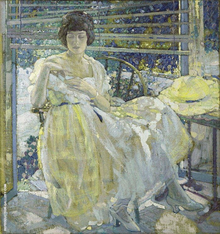 The Sun Porch 1922 Painting By Richard Emil Miller - Reproduction Gallery