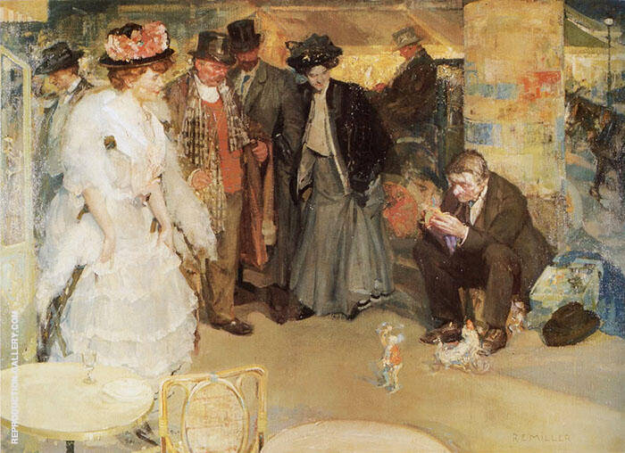 The Toy Seller Painting By Richard Emil Miller - Reproduction Gallery