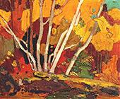 Autumn Birches By Tom Thomson