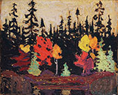 Black Spruce and Maple By Tom Thomson
