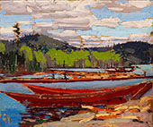 Boats 1918 By Tom Thomson