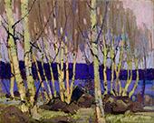 Evening Canoe Lake By Tom Thomson