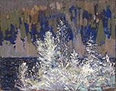 Frost Laden Cedars Big Cauchon Lake By Tom Thomson