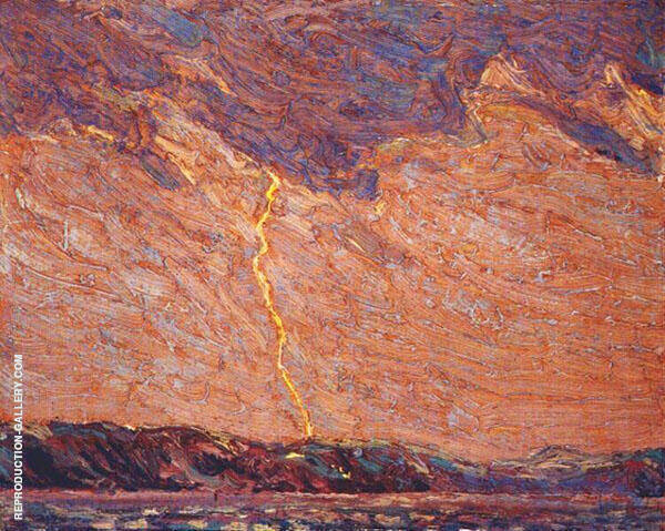 Lightning Canoe Lake By Tom Thomas