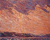 Lightning Canoe Lake By Tom Thomson