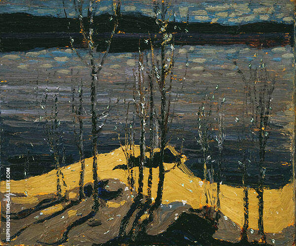 Moonlight and Birches By Tom Thomas