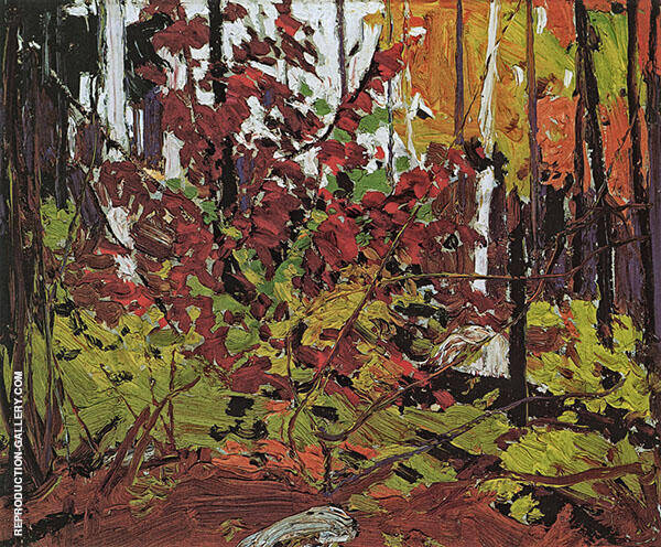 Red Sumac Painting By Tom Thomson - Reproduction Gallery