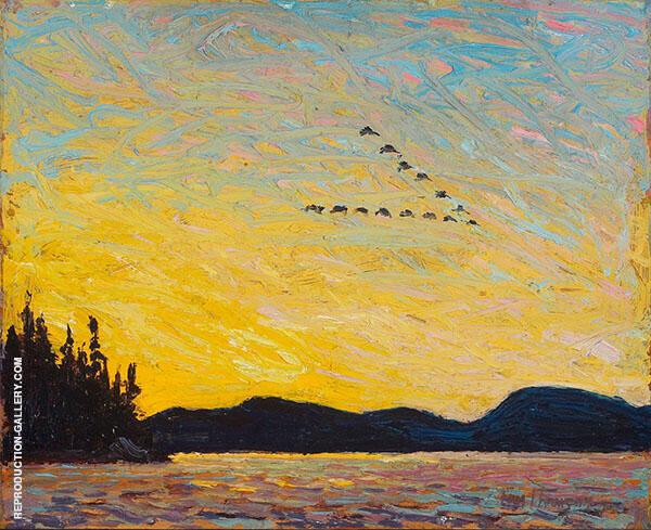 Round Lake Mud Bay Fall 1915 By Tom Thomas
