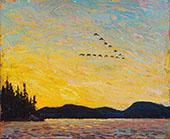 Round Lake Mud Bay Fall 1915 By Tom Thomson