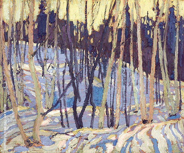 Snow Shadows Painting By Tom Thomson - Reproduction Gallery
