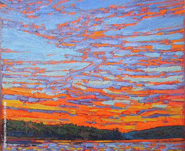 Sunset Clouds By Tom Thomson