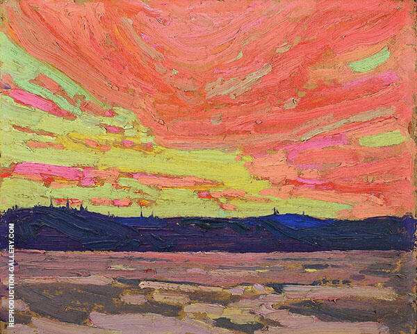 Sunset Summer By Tom Thomson