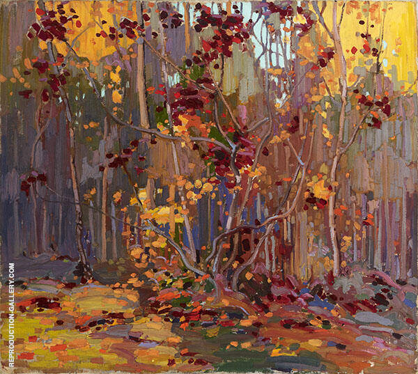 Maple Saplings October Winter 1916 By Tom Thomson
