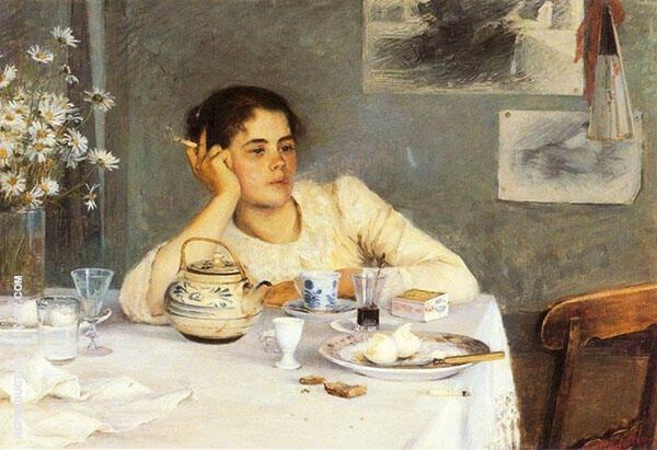 After Breakfast Painting By Elin Kleopatra Danielson Gambogi