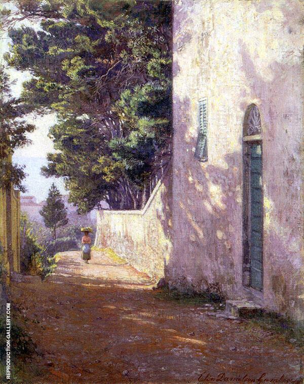 Antignano Painting By Elin Kleopatra Danielson Gambogi