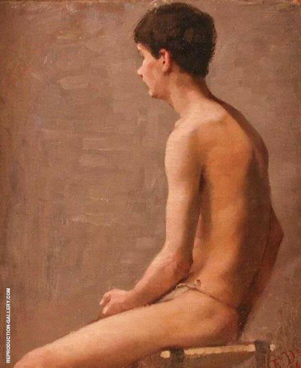Boy Sitting Painting By Elin Kleopatra Danielson Gambogi