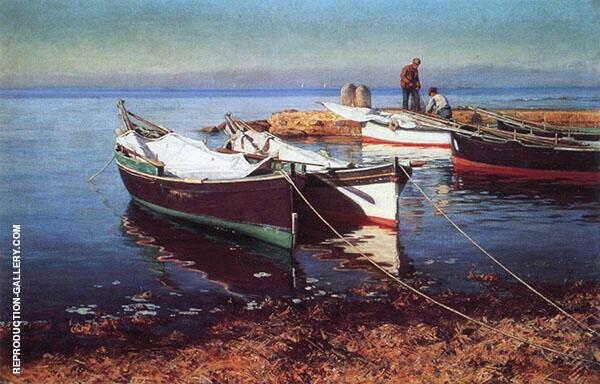 Fishing Boats Painting By Elin Kleopatra Danielson Gambogi