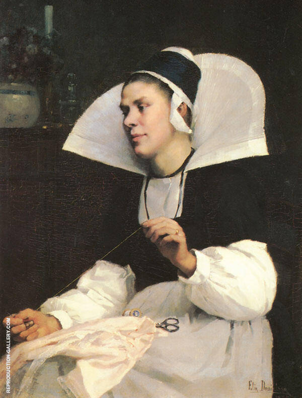 Girl from Brittany Painting By Elin Kleopatra Danielson Gambogi