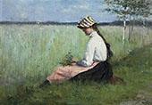 Girl in a Meadow By Elin Kleopatra Danielson Gambogi