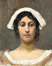 Girl in White Bonnet 1892 By Elin Kleopatra Danielson Gambogi