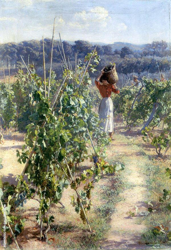 Grape Harvesting Painting By Elin Kleopatra Danielson Gambogi