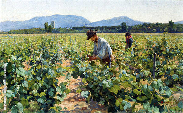 In The Vineyard Painting By Elin Kleopatra Danielson Gambogi